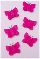 Picture of Felt Butterflies - Cerise