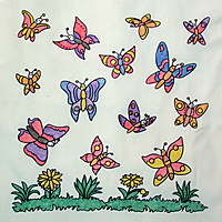 Picture of Cotton Butterfly Bag