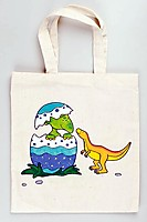 Picture of Cotton Dinosaur Bag