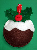 Picture of Felt Christmas Pudding