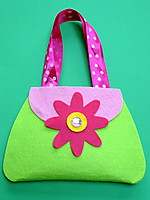 Picture of Felt Flower Bag Craft Kit