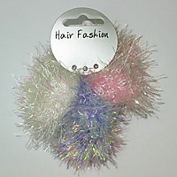 Picture of Fluffy Tinsel Scrunchies