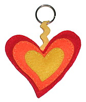 Picture of Funky Heart Keyring
