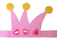 Picture of Pink Foam Tiaras