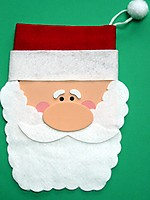 Picture of Santa Drawstring Bag
