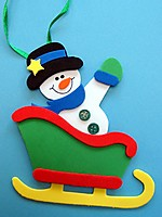 Picture of Snowman In Sleigh